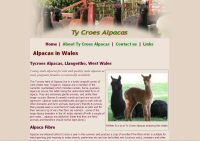 screenshot alpacas in wales web site